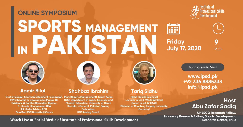 Online Symposium Sports Management in Pakistan