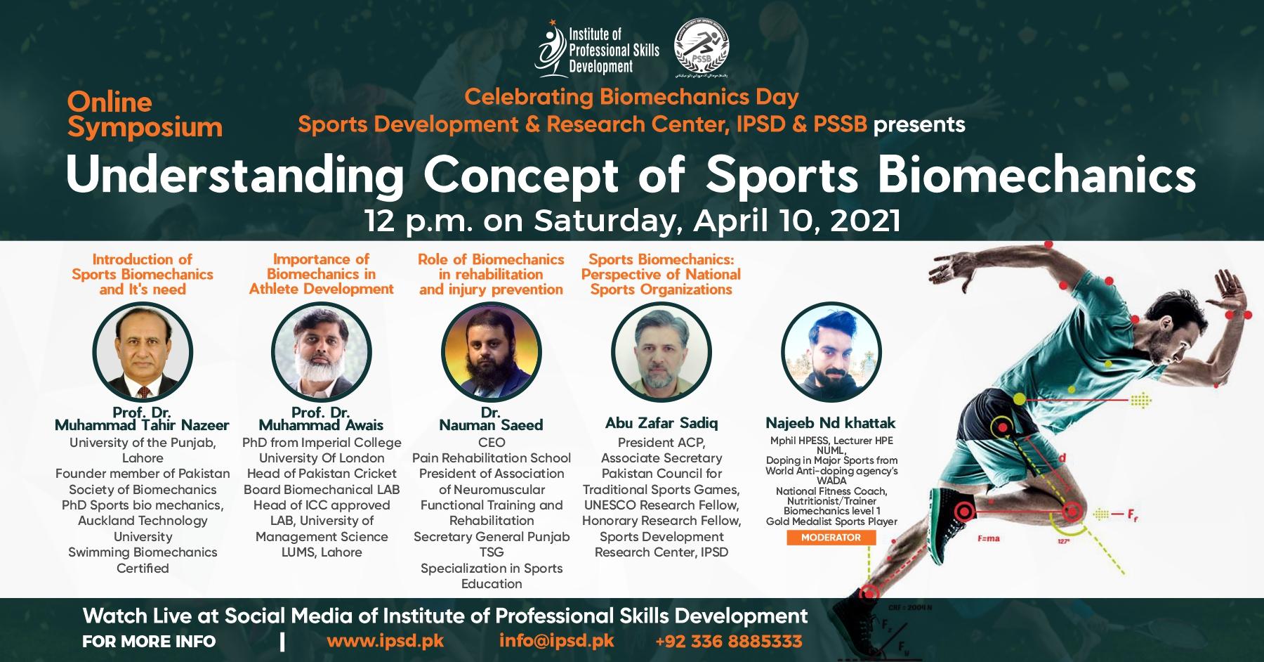Online Symposium Understanding Concept of Sports Biomechanics