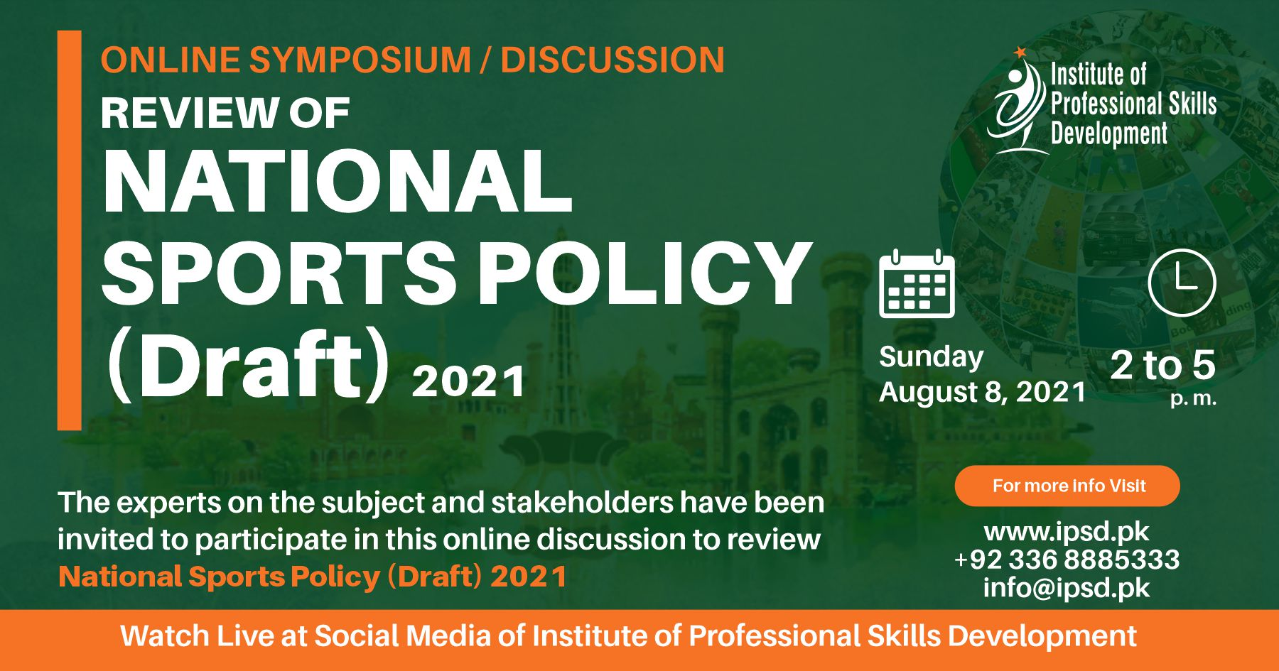 Review of National Sports Policy (Draft) 2021 – Online Symposium / Discussion